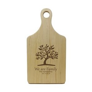 Maple Paddle-Shaped Laser Engraved Cutting Board